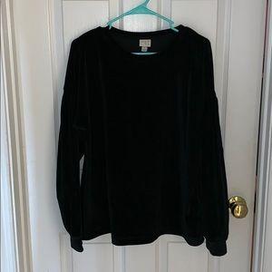 A new day black velvet sweater
